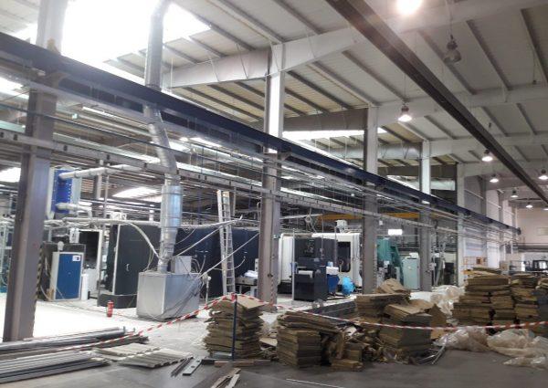 Čistenie výrobnej haly - Výškové práce s.r.o.