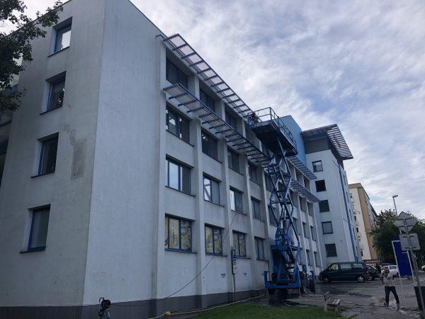 Vysokotlakové čistenie (wapovanie) fasád budov