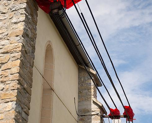 Oprava fasády kostola - Výškové práce s.r.o