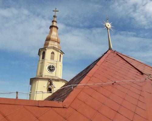 Rekonštrukcia kostolu pomocou výškových práce