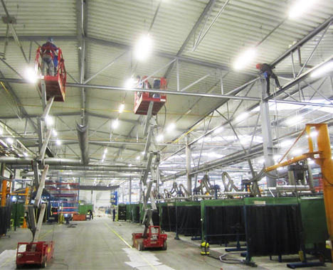 Čistenie a údržba výrobných hál - Výškové práce s.r.o