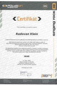 Certifikát IKAR pre Výškové práce s.r.o.