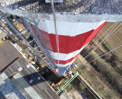 Oprava priemyselných komínov - Výškové práce s.r.o